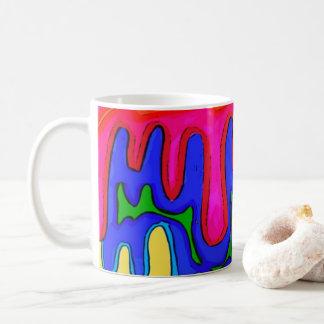 Tasse colorée de boue