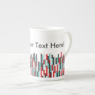 Tasse colorée de porcelaine tendre de conception