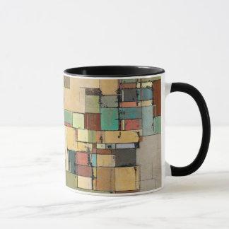Tasse colorée de sonnerie d'art abstrait de