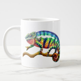 Tasse colorée d'éléphant de caméléon de panthère