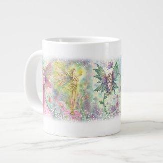 Tasse colorée d'éléphant de fées de fleur