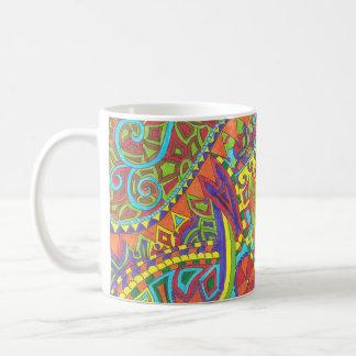 Tasse colorée motif oiseau Lapous Glas ha Melenn