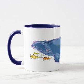"""Tasse combinée de 11oz """"de baleine droite"""
