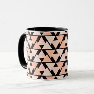 Tasse combinée de conception géométrique orange en