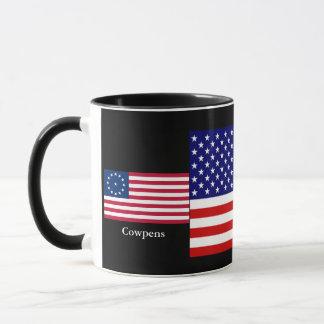 Tasse combinée de drapeaux américains