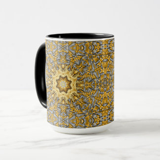 Tasse combinée de kaléidoscope vintage de métal