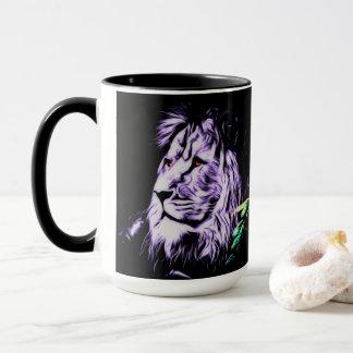 tasse combinée de lion