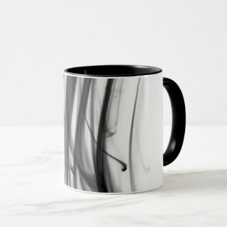 Tasse combinée du feu III noir par l'artiste C.L.