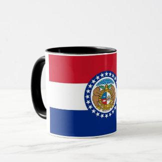 Tasse combinée noire avec le drapeau du Missouri,