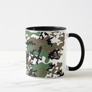 Tasse concrète en verre de Camo de jungle