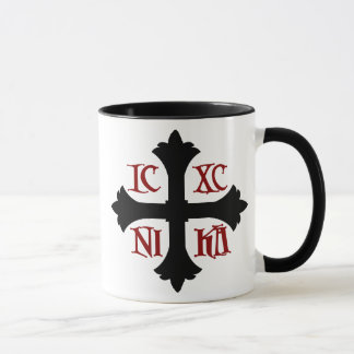 Tasse croisée d'IC XC