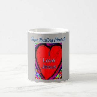 Tasse curative de tasse de café de Jésus d'amour
