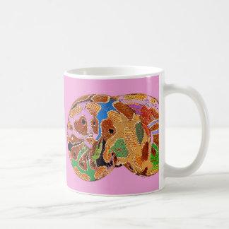 Tasse d art de bruit de python de sommeil rose