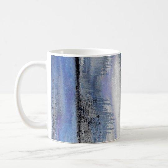 Tasse d'abrégé sur gris bleu