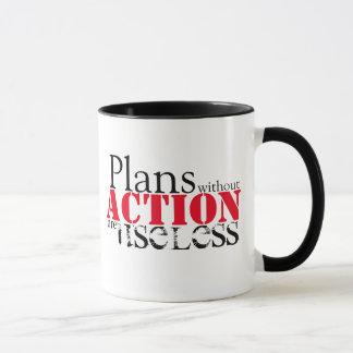 Tasse d'action de plan