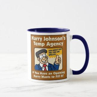 Tasse d'agence d'emplois temporaires de Harry
