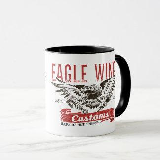 """Tasse d'ailes d'Eagle de """"serrure et de clé """""""
