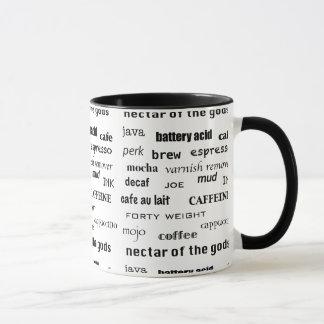 Tasse d'amant d'encre de Decaf de Brew de café de