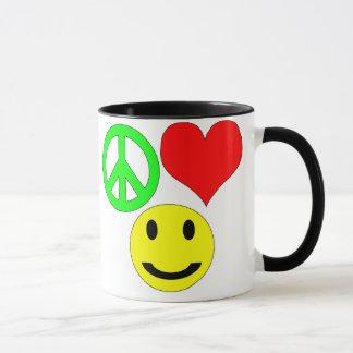 tasse d'amour et de bonheur de paix