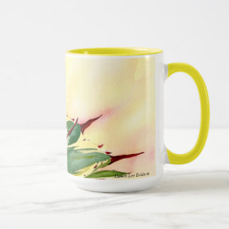 Tasse d'aquarelle d'agave, jaune, par Debra Lee