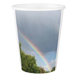 Tasse d'arc-en-ciel gobelets en papier