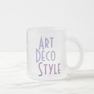 Tasse d'ART DÉCO (verre givré)