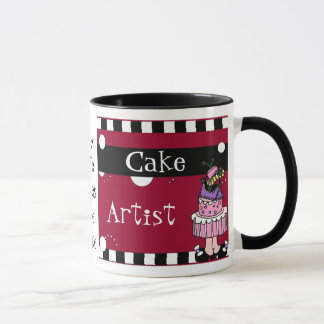 Tasse d'artiste de gâteau