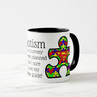 Tasse d'autisme avec le papa superbe. Fait un