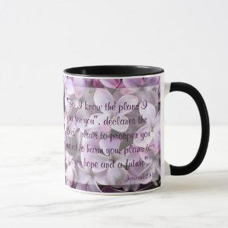 Tasse de 29:11 de Jérémie de lilas