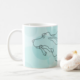 Tasse de Basset Hound d'Aqua