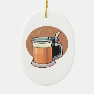 Tasse de bière ornement ovale en céramique