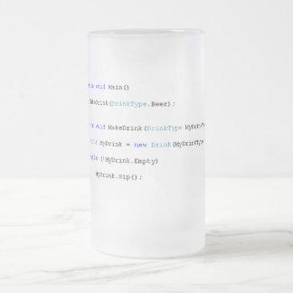 Tasse de bière pointue de programmeurs de C