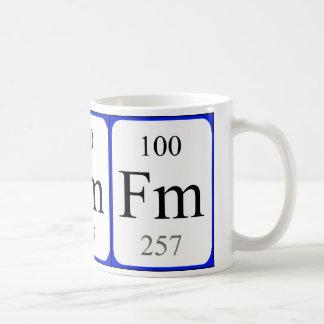 Tasse de blanc de l'élément 100 - fermium