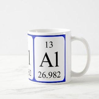 Tasse de blanc de l'élément 13 - aluminium