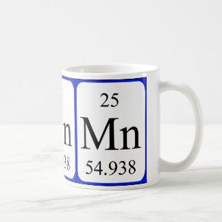Tasse de blanc de l'élément 25 - manganèse