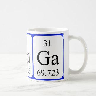 Tasse de blanc de l'élément 31 - gallium