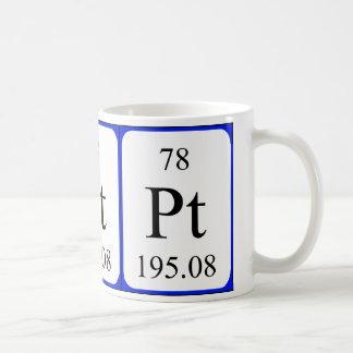 Tasse de blanc de l'élément 78 - platine