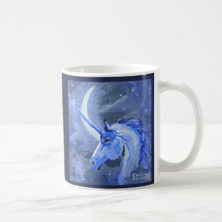 Tasse de bleu de licorne de lune