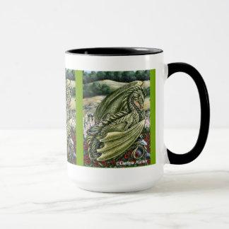 Tasse de bouclage de dragon de Peridot