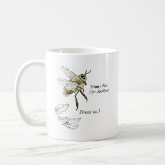 Tasse de bourdon d'abeille de miel de MABA