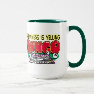 Tasse de cadeau de bingo-test