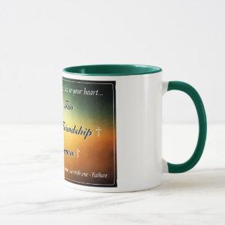 "Tasse de café 11oz verte de ""cinq f"""