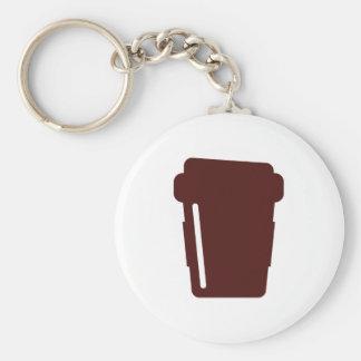 Tasse de café à aller porte-clé rond