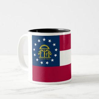 Tasse de café à deux tons de drapeau d'état de la