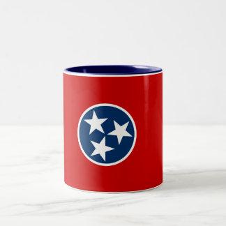 Tasse de café à deux tons de drapeau d'état du