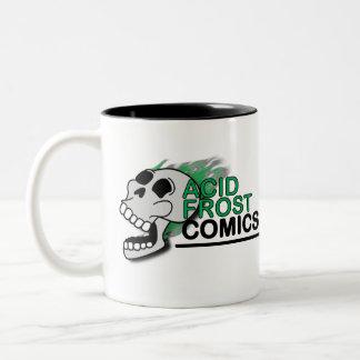 Tasse de café à deux tons de Frost de crâne acide