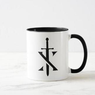 Tasse de café à deux tons de Paladin de chevaliers