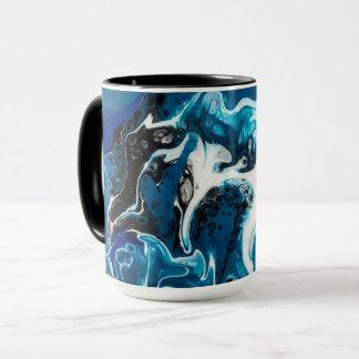 Tasse de café abstraite de bleu