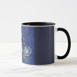 Tasse de café abstraite de moto