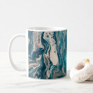 Tasse de café abstraite de turquoise